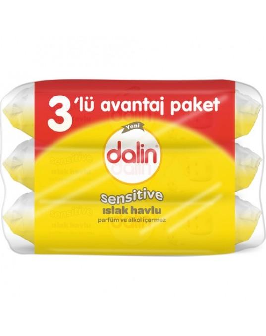 DALİN SOFT ISLAK HAVLU 3'LÜ EKO PAKET